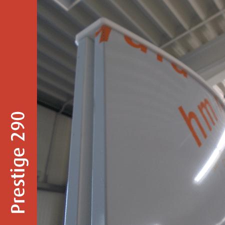 Werbepylon Prestige 290 | gewölbt | unbeleuchtet