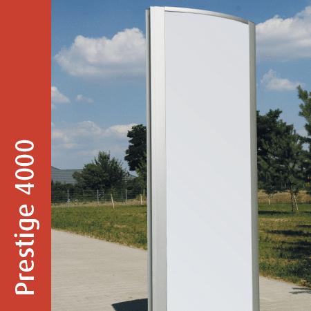 Werbepylon Prestige 4000 | gewölbt | beleuchtet | unbeleuchtet