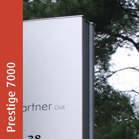 Werbepylon Prestige 7000 | gewölbt | unbeleuchtet