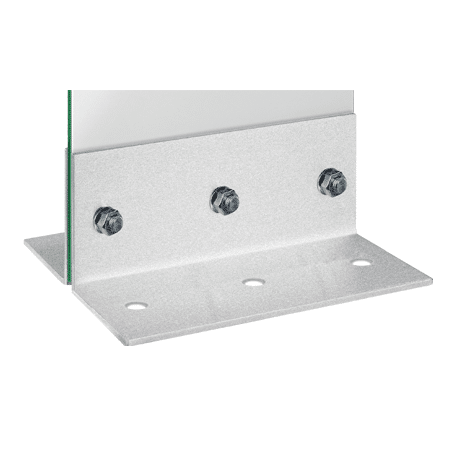 Werbepylon Glasstele Winkel